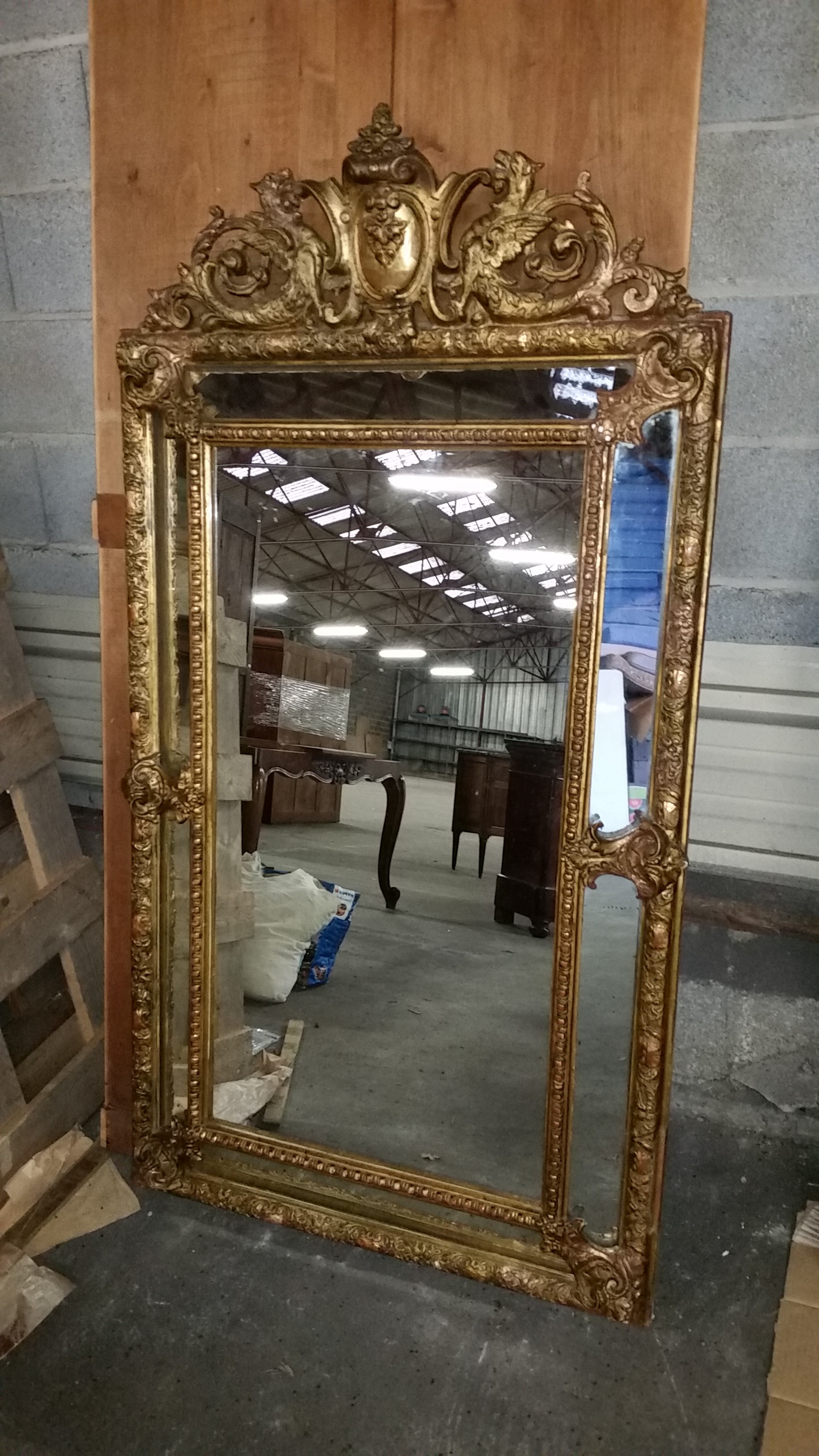 Mid 1800's cushion mirror