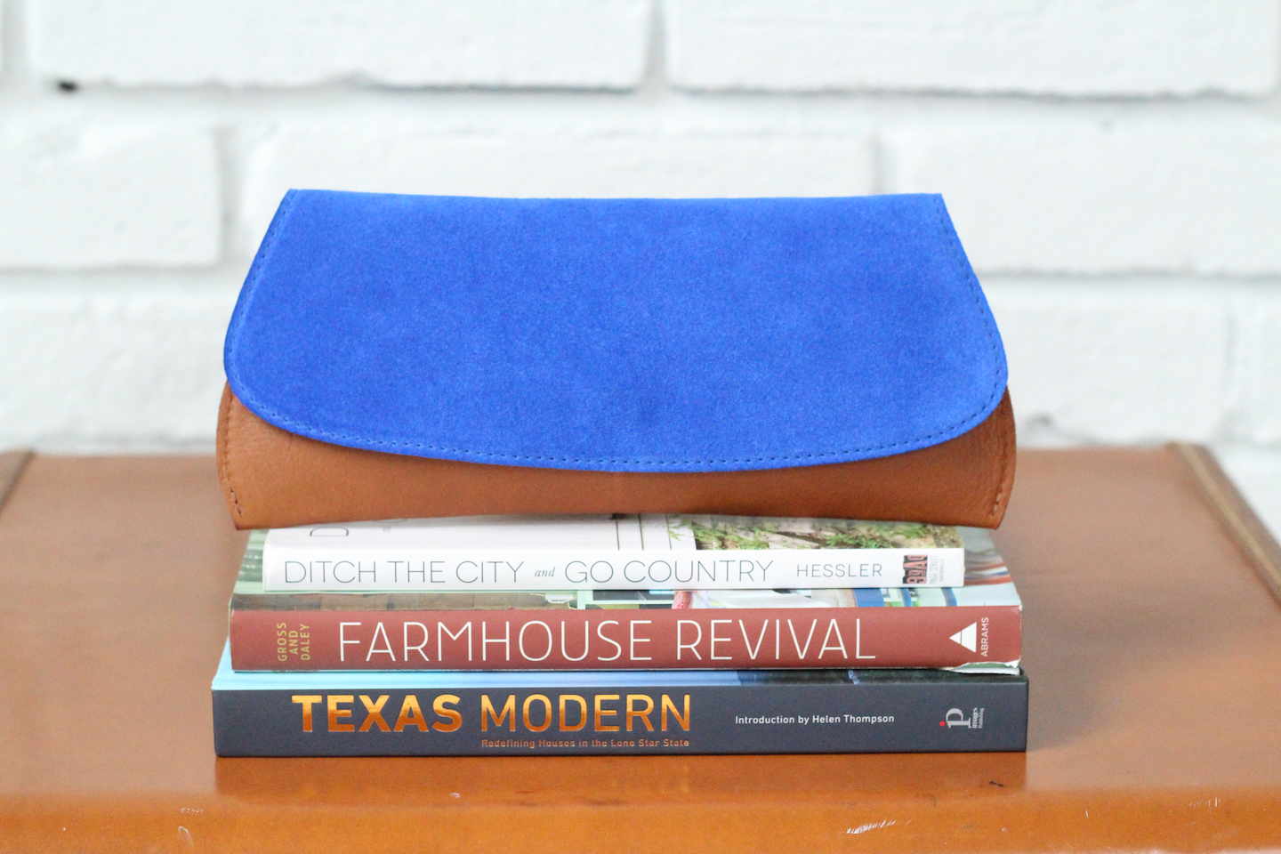 Suede/Leather Pommel Clutch
