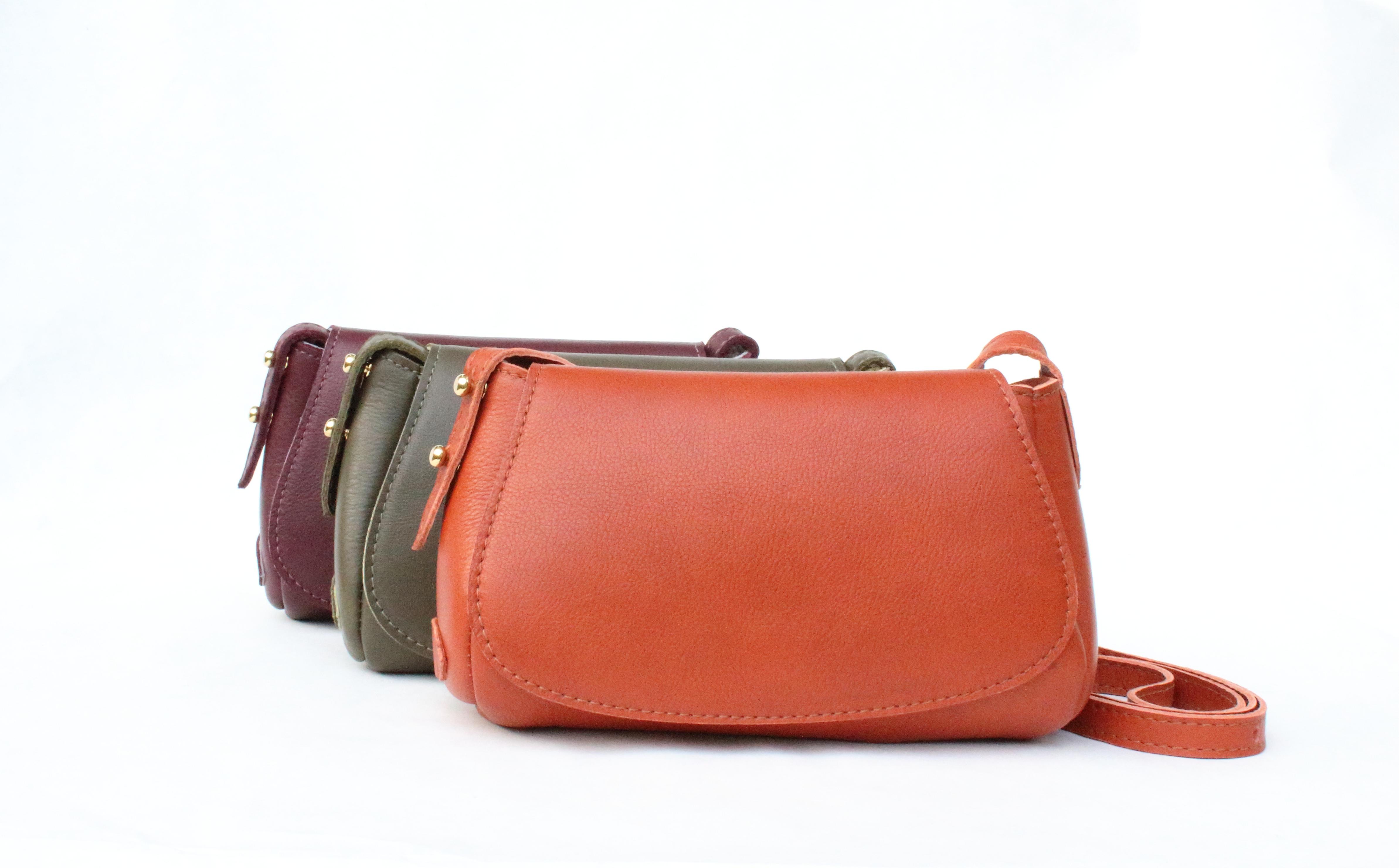 Leather/Suede Crossbody Saddle Bag