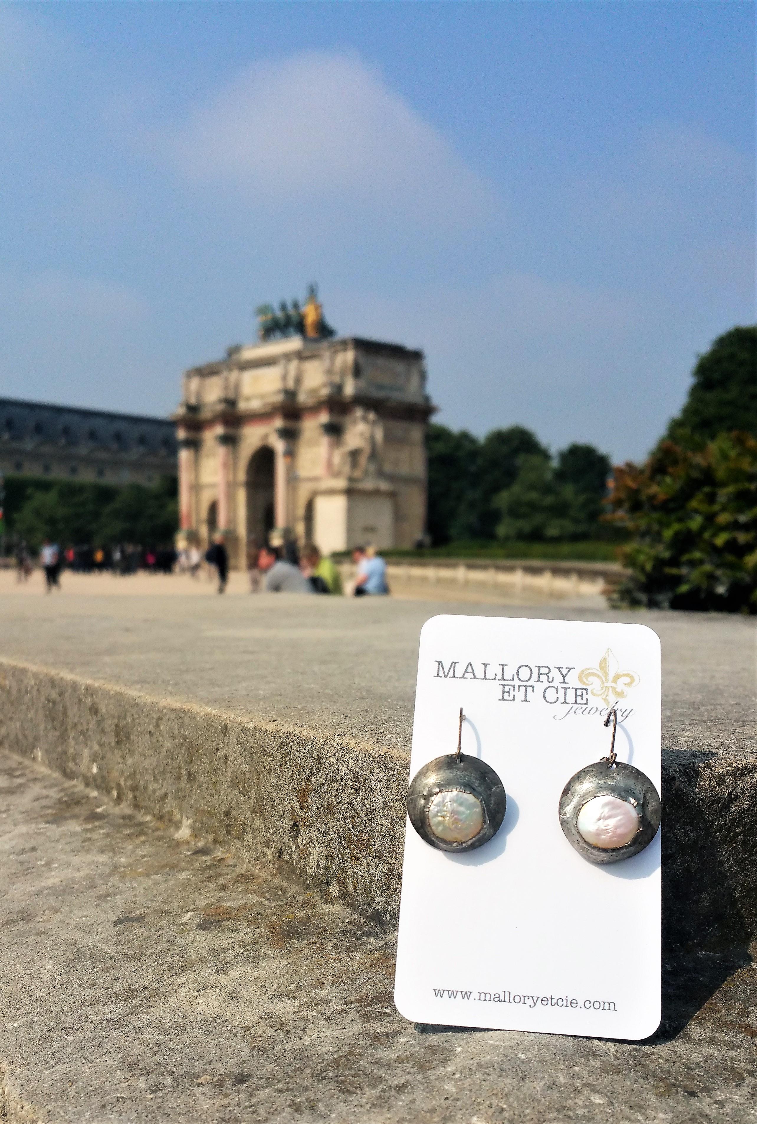 Pearl Earrings in Paris
