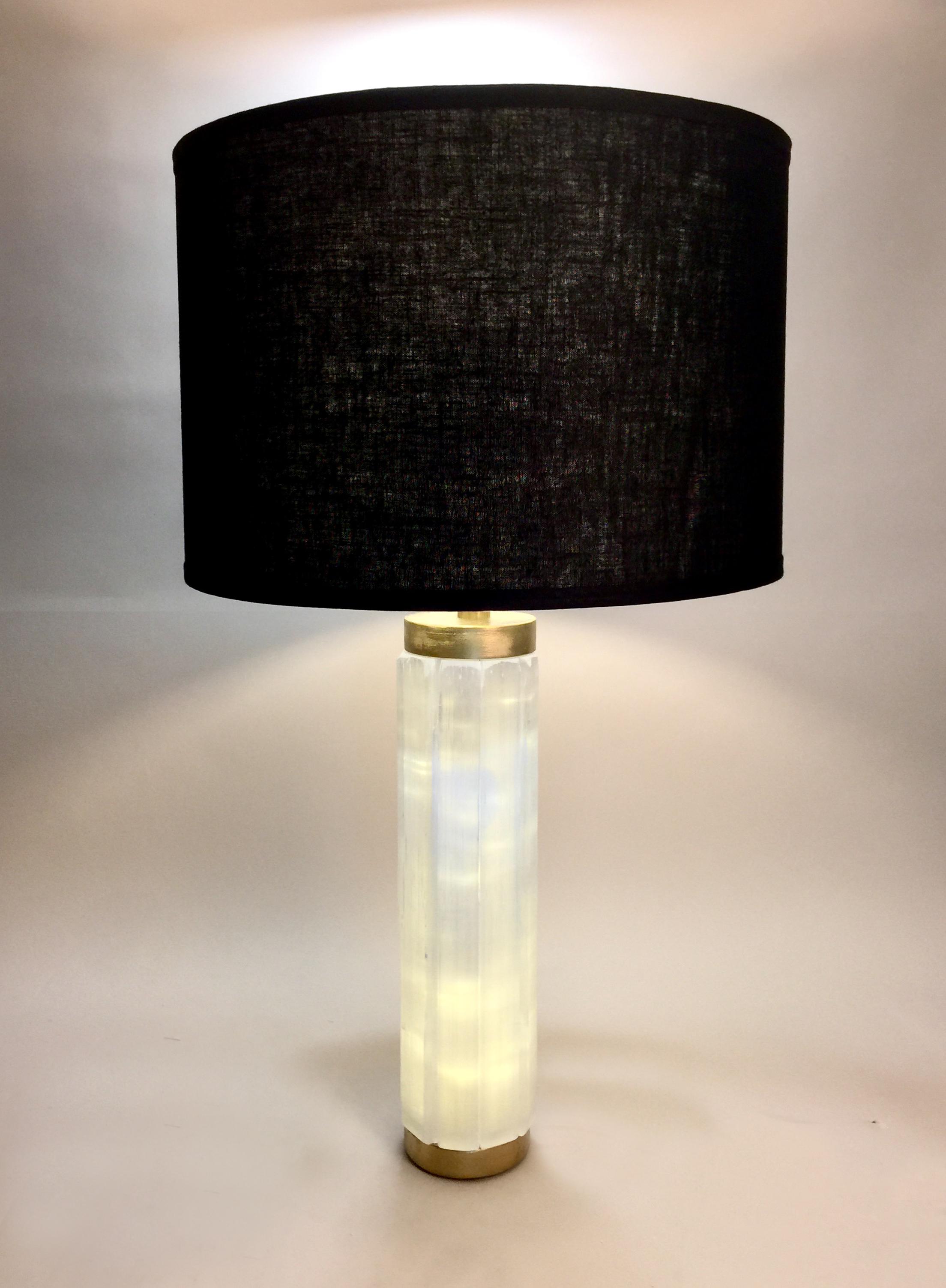 Selenite Column Lamp